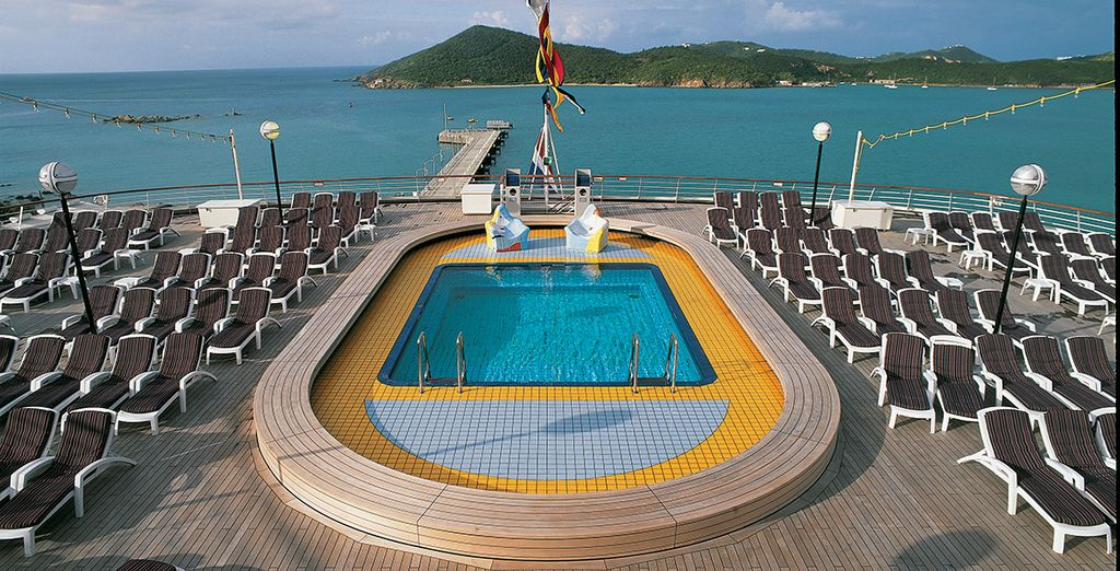 On board your ship you can enjoy some great facilities