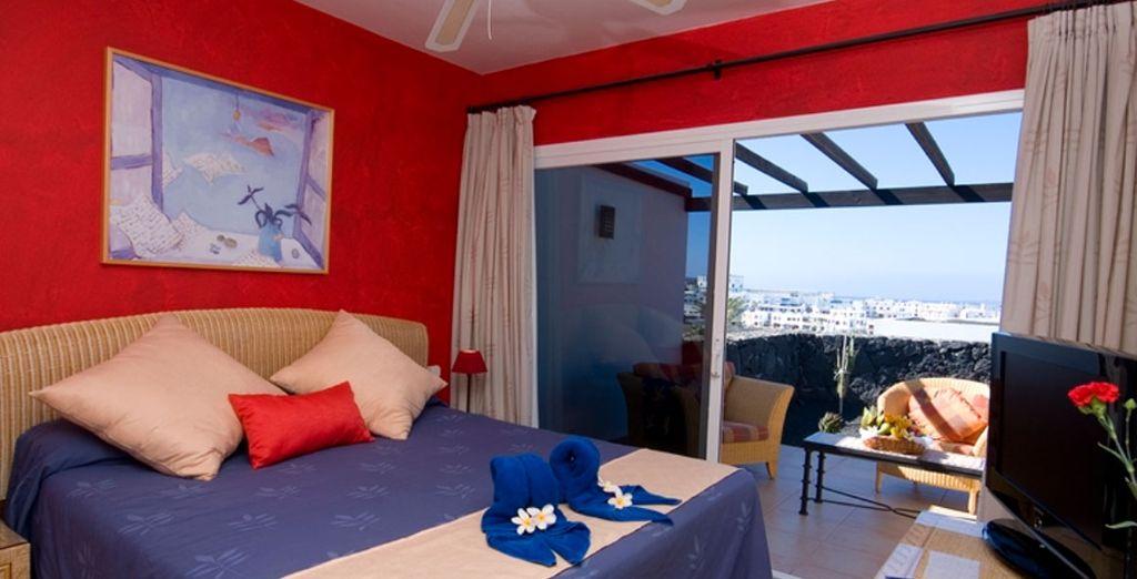 With amazing bungalow accommodation