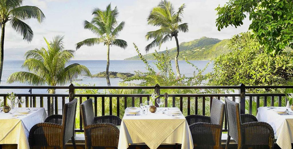 Soak up the views while you lunch...
