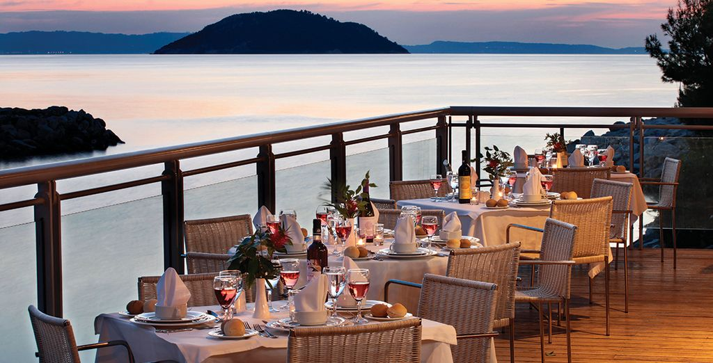 And watch the sunset over dinner
