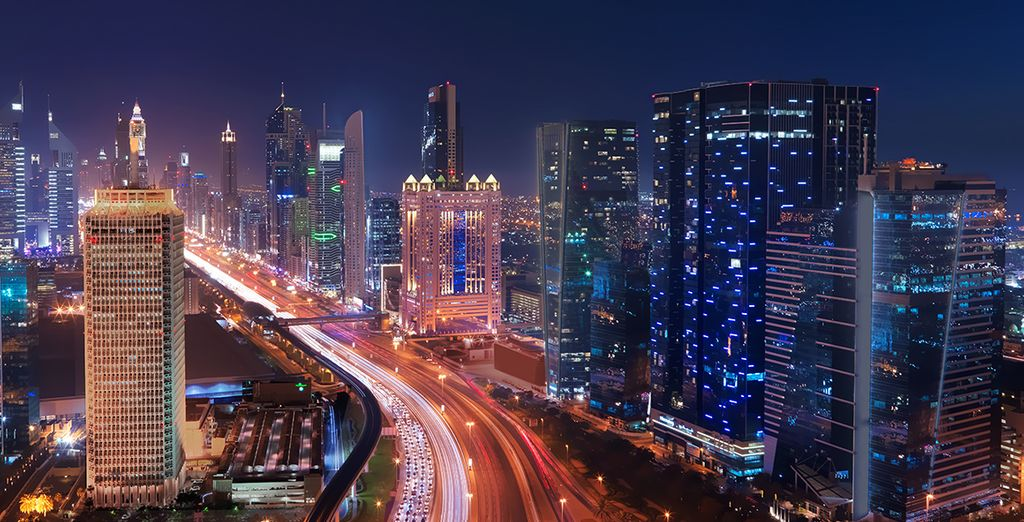 Which is in a bustling location on Sheikh Zayed Road