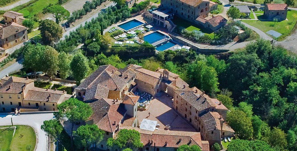 This historic castle offers beautiful views of Tuscany