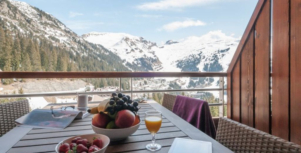 To enjoy on your terrace overlooking the mountains