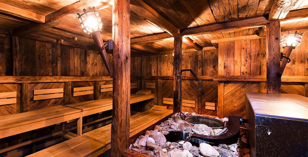 Alongside huge range saunas, from rustic...