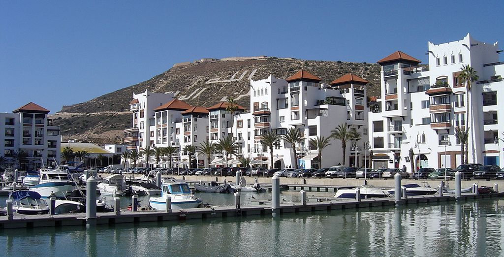 In the coastal city of Agadir
