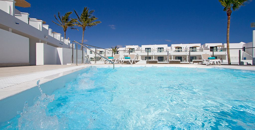 A haven of pristine white and cerulean blue