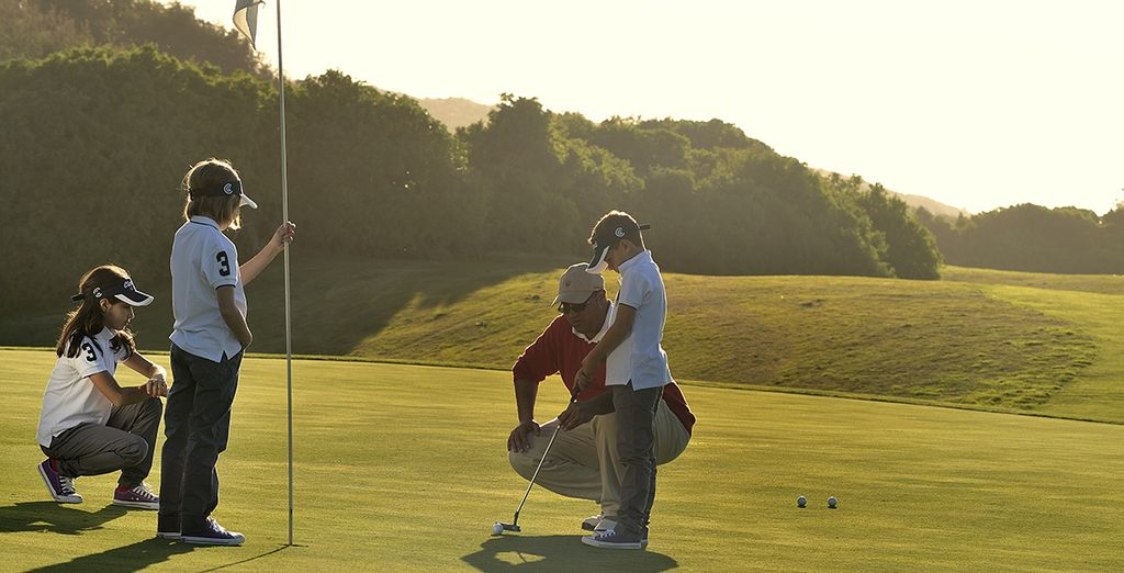 A golf initiation is included in our offer