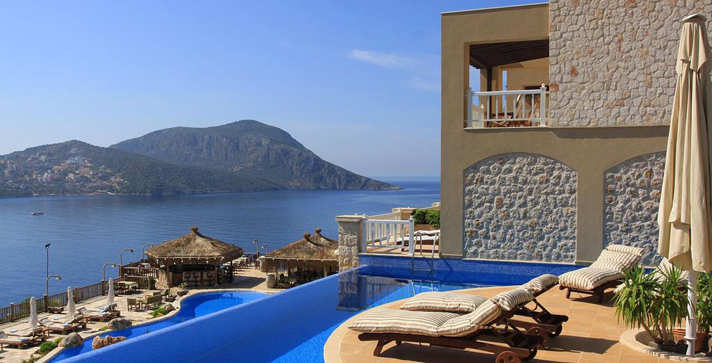 Sunbathing with a view like no other - Likya Residence Hotel & Spa Kalkan