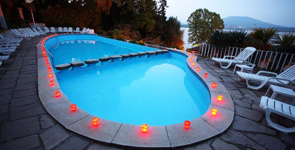 Spend your days lounging poolside or exploring the lake