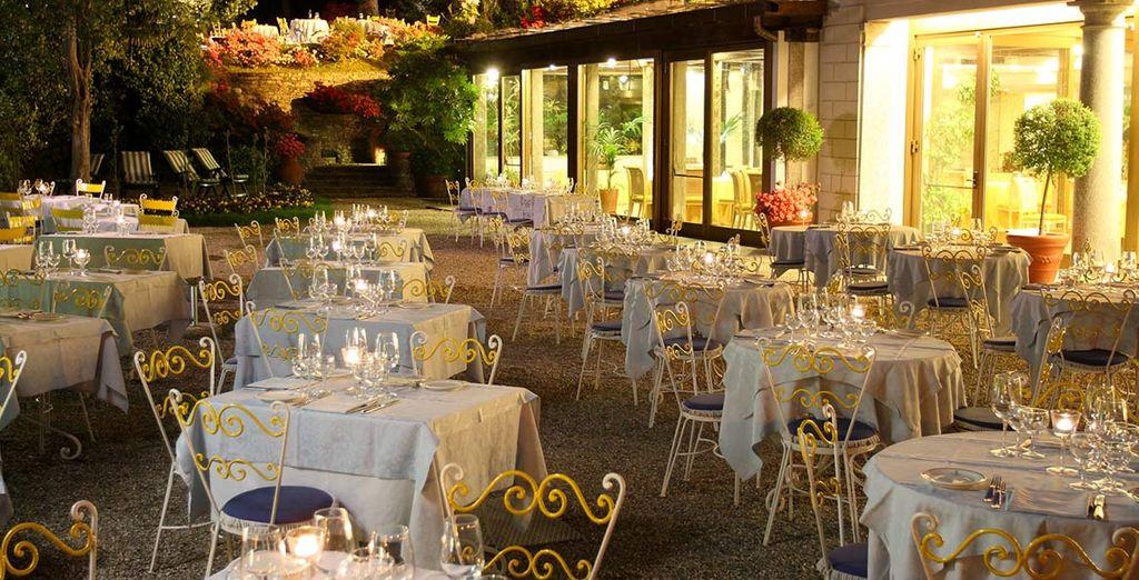 Dine in lovely surroundings