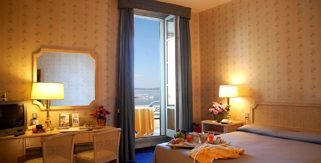 You will stay in a Superior Room with Lake View Rooms