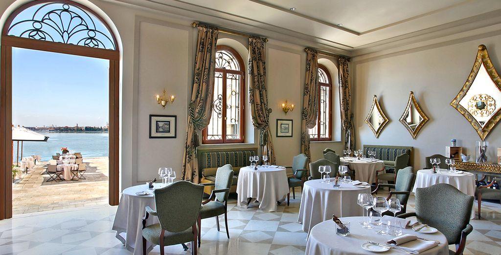 Admire the elegant interior