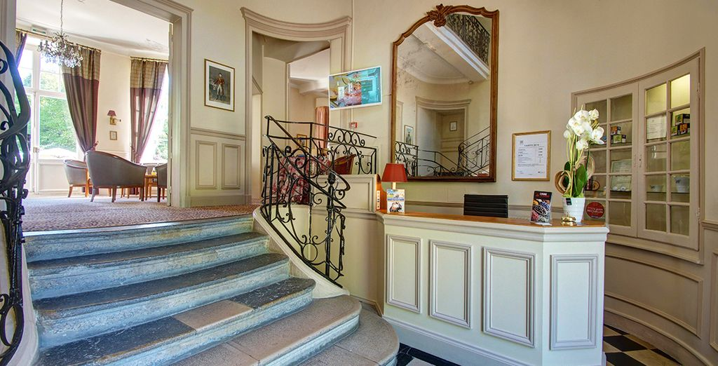 At the classical and charming Najeti Hotel Château Clery