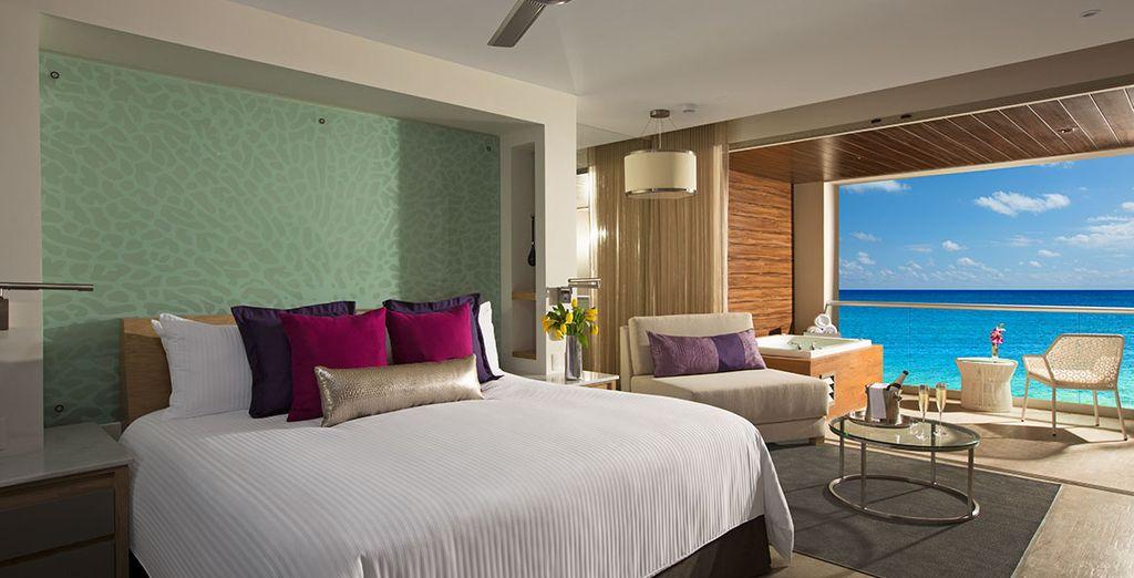 Stay in a wonderful Xhale Club Junior Suite Ocean View