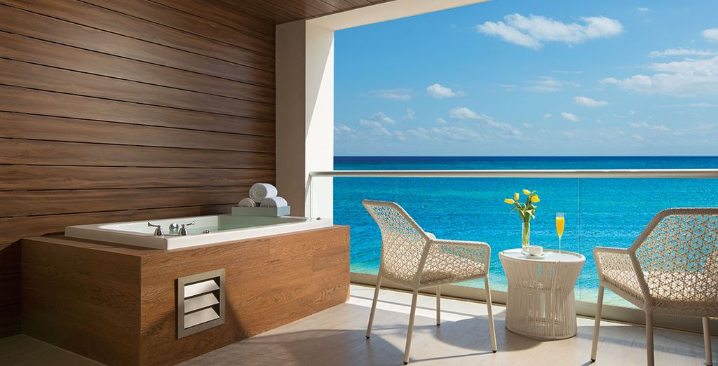 Featuring a gorgeous terrace and ocean view
