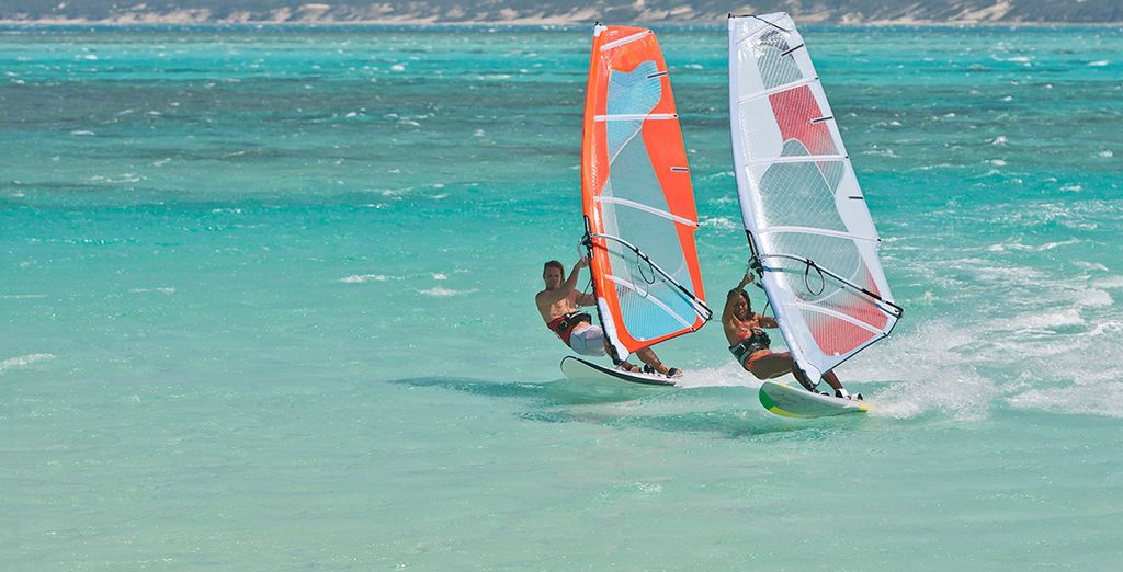 Get involved with the huge range of watersports available