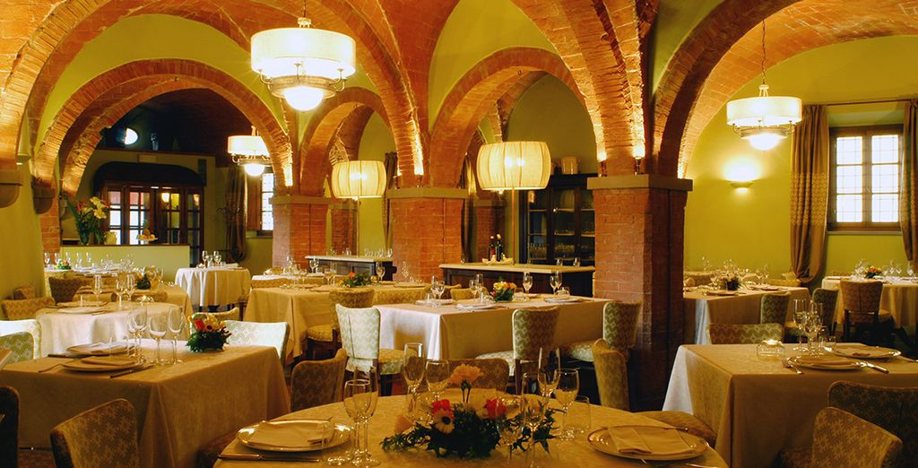 Enjoy a meal in Restaurant Mannaioni, located in the old olive oil mill