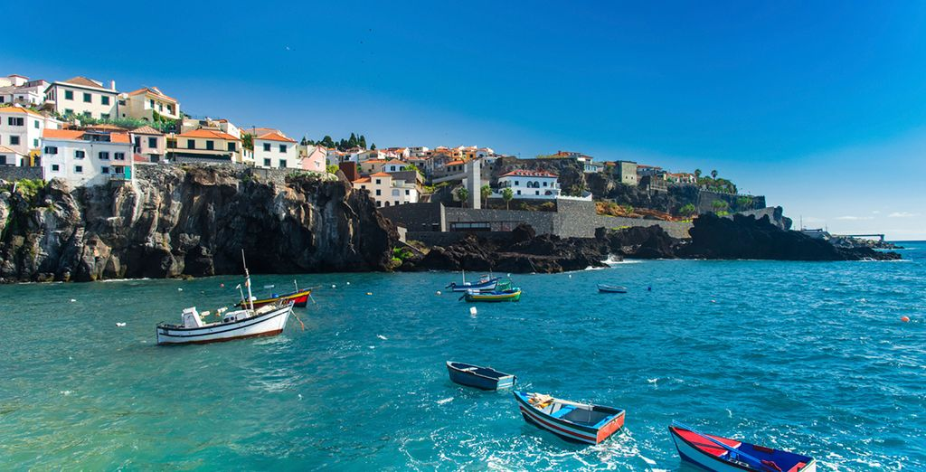 You are near the fishing village of Camara de Lobos