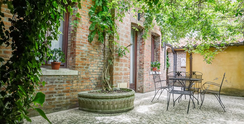 As well as a pretty outdoor area for those warmer days