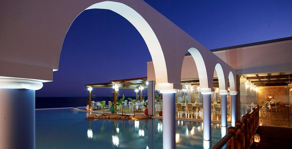 The architectural design of this resort is completely stunning