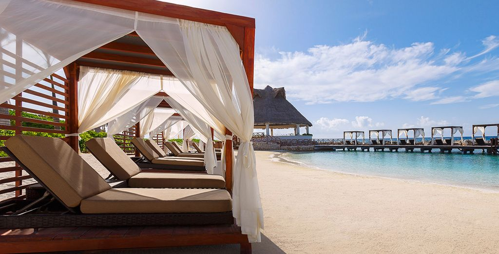 Lined with Balinese beds for your pleasure