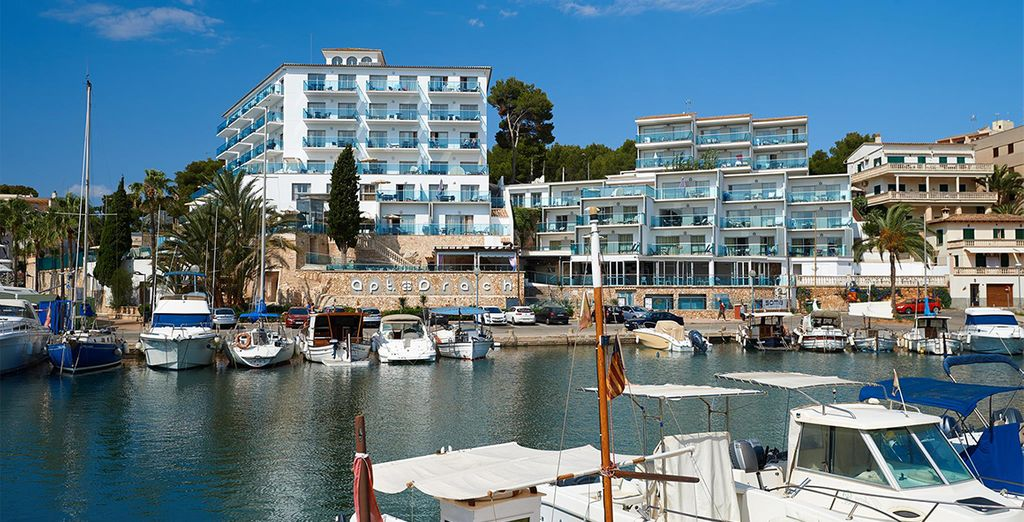 Visit the yacht-lined harbour