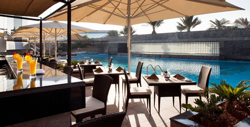 Refresh with a drink at the pool bar