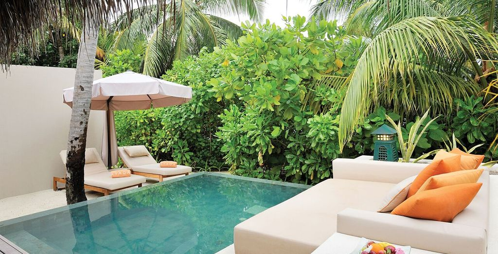 And private plunge pool