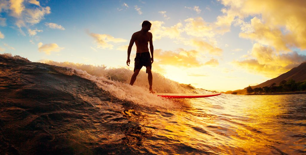 Test your skills at surfing