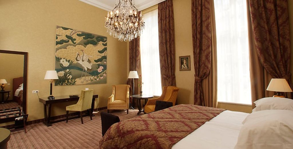 You will be staying in an Executive or Comfort Room (Executive pictured)