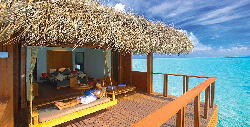 Or a Water Villa - perched right over the Indian Ocean