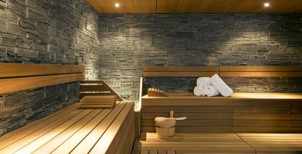 Soothe your senses in the sauna
