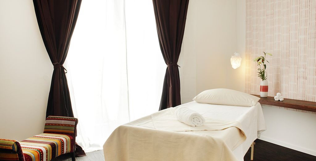 Visit the rooftop spa for an aromatherapy massage
