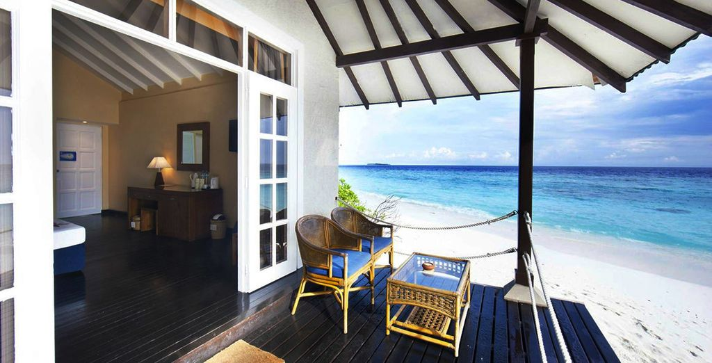 Then make your way to your Beach Villa