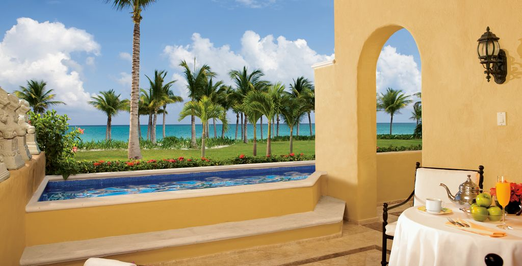 So enjoy some wonderful views from your plunge pool!