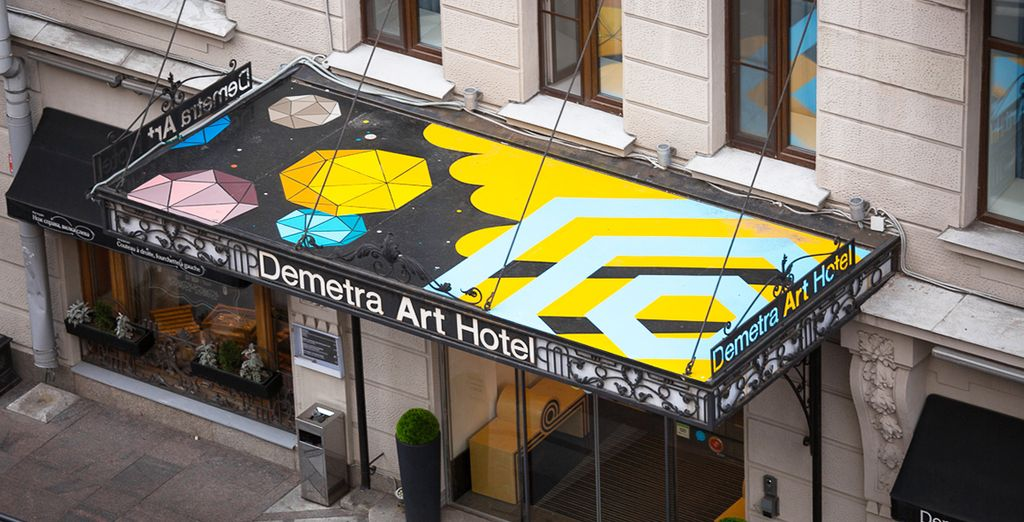 Located in central St. Petersburg, the Demetra Art Hotel exudes style and design