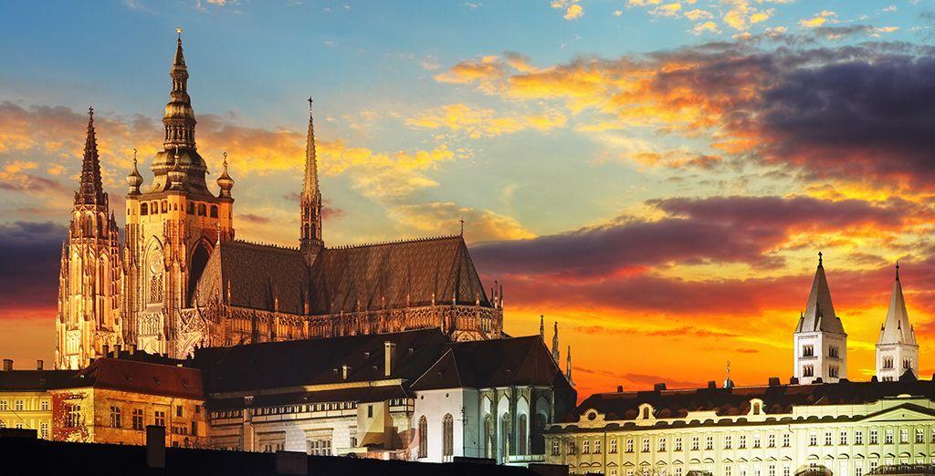 Explore Prague's winding historic streets....