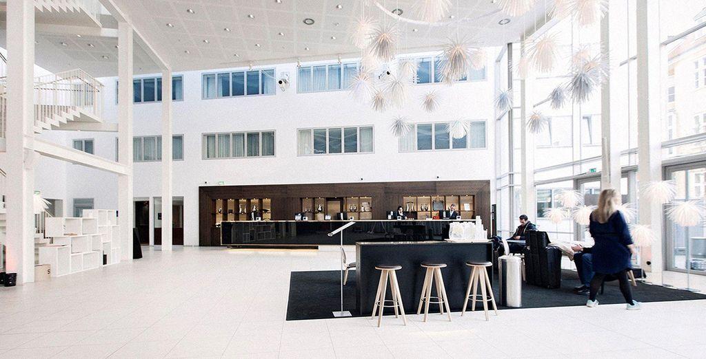 The hotel boasts sleek, stylish design
