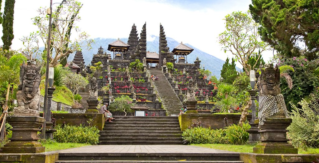 Explore the island's beautiful temples