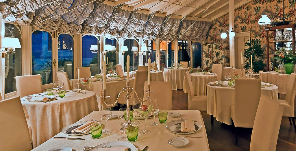 Be shrouded in a refined atmosphere at the Gazebo restaurant