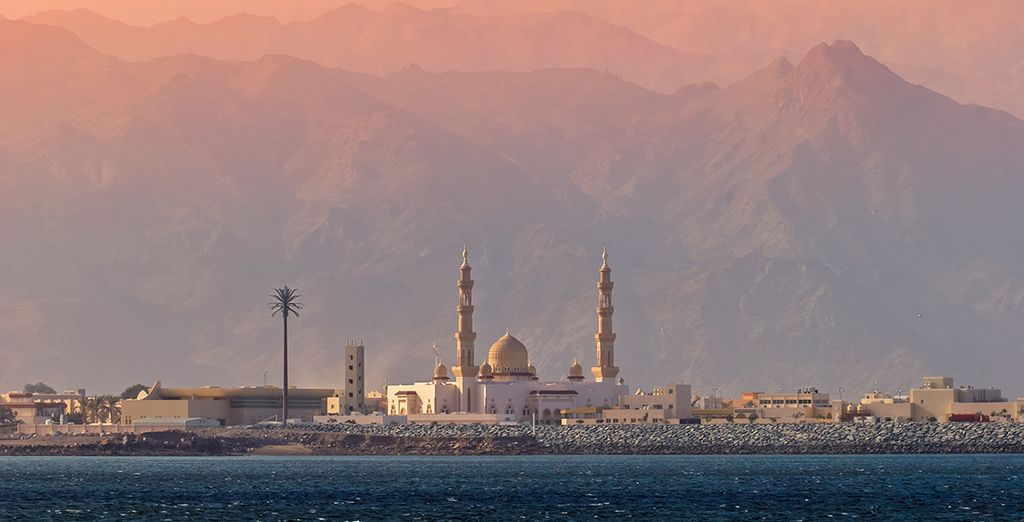 Backed by the Al Hajar Mountains, and surrounded by ancient history