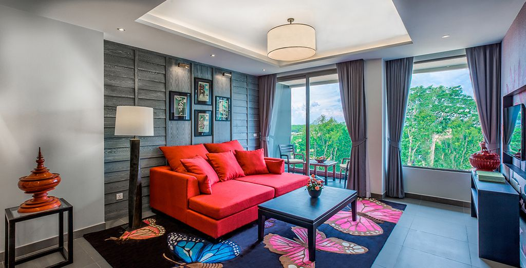 Enjoy lush tropical views from your Hill View Suite