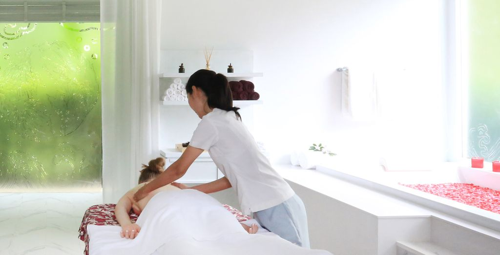 Chill out with a pampering massage or treatment