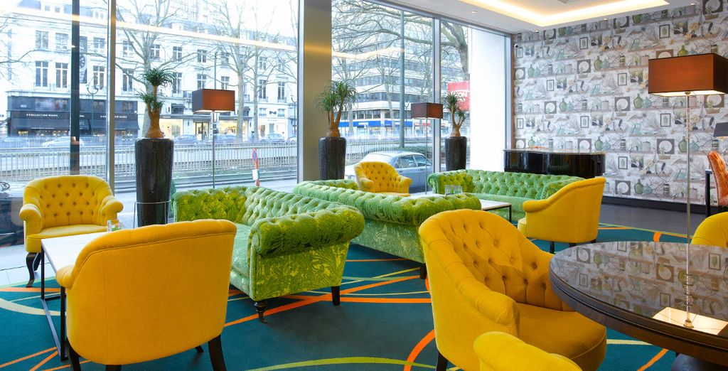 Your hotel features a modern, vibrant design