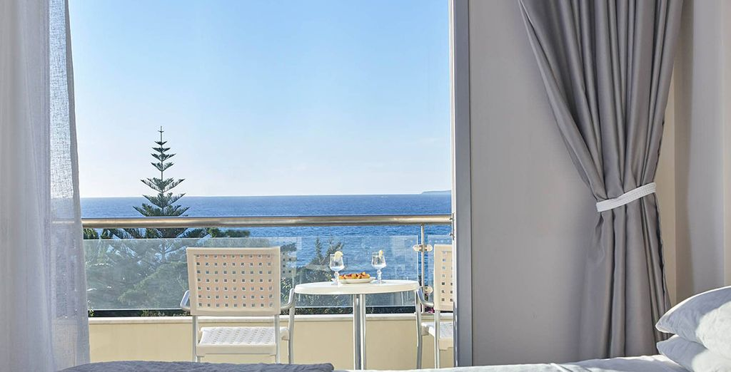 During certain dates, enjoy an upgrade to a gorgeous Superior Sea View Room