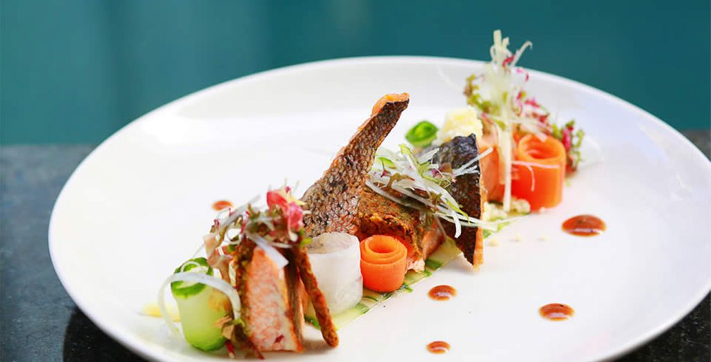 Every dish is healthy and balanced, with many ingredients grown onsite in the organic garden