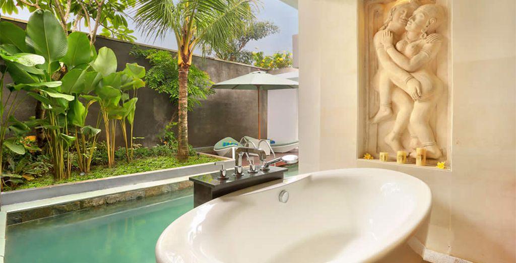 Such as this beautiful deep soaking tub