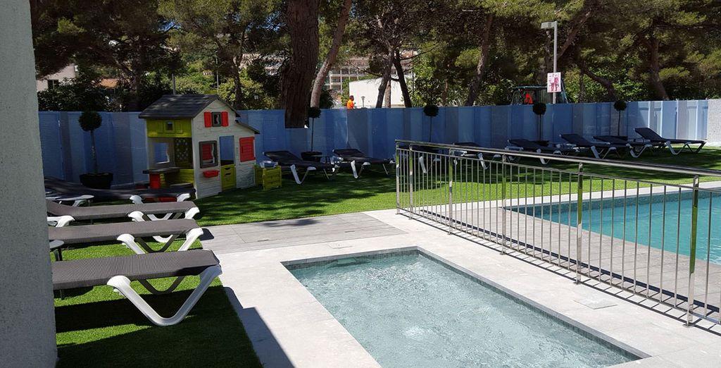 Plus a hot tub and sun terrace