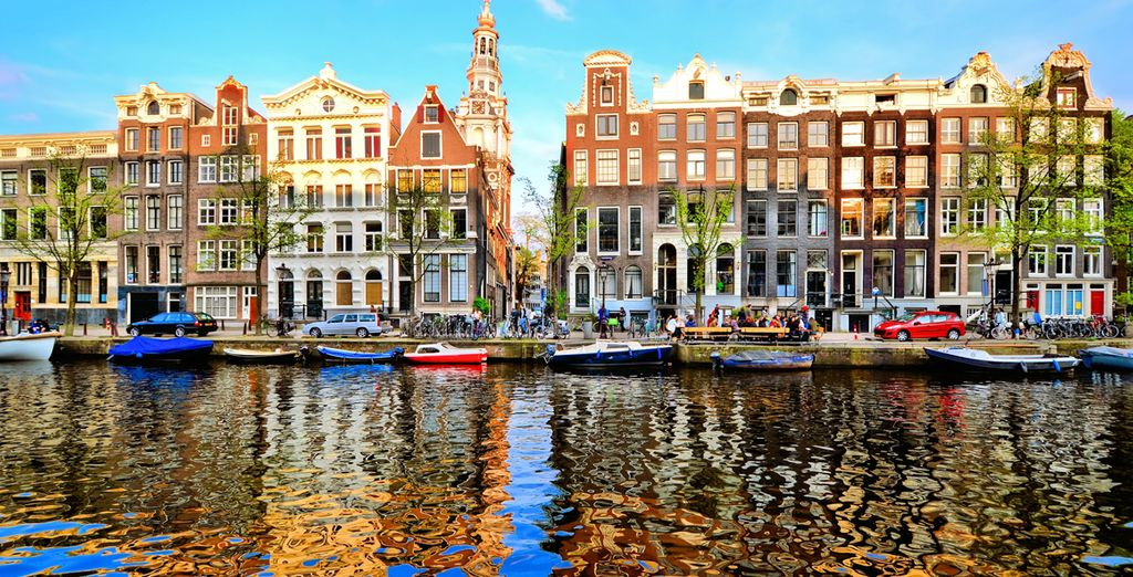 The thriving city of Amsterdam