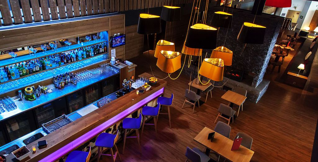 Or simply lounge with a warming cocktail in the stylish bar